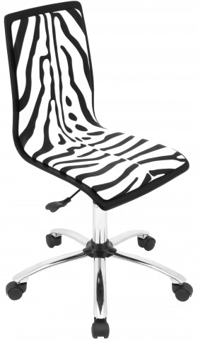 Printed Office Zebra Chair