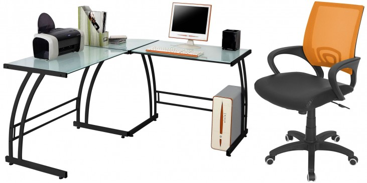 Gamma Black Home Office Set