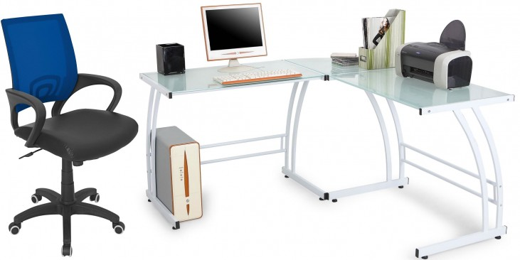 Gamma White Home Office Set