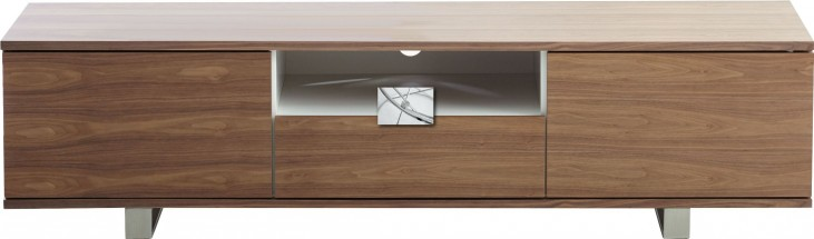 Olsen Polished Stainless Steel TV Stand