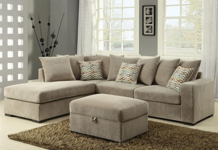 Olson Taupe Reversible Sectional