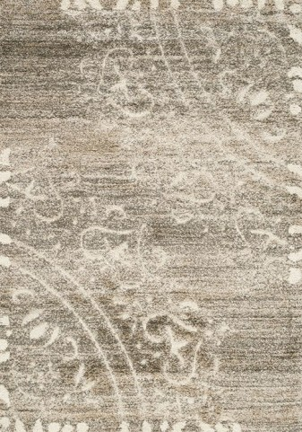 Olympia Taupe and Cream Ornament Corners Medium Rug