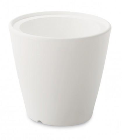 Omnia Multipurpose White Polyethyline Frame Pot/Vase/Seat/Table