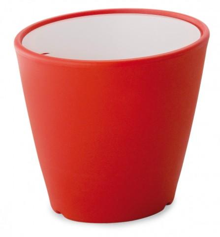 Omnia Multipurpose Red Glass Top Pot/Vase/Seat/Table