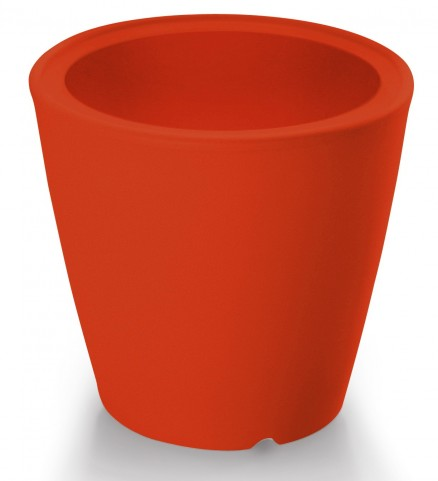 Omnia Multipurpose Red Polyethyline Frame Pot/Vase/Seat/Table