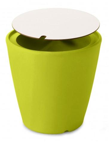 Omnia Multipurpose Green Laminate Top Pot/Vase/Seat/Table
