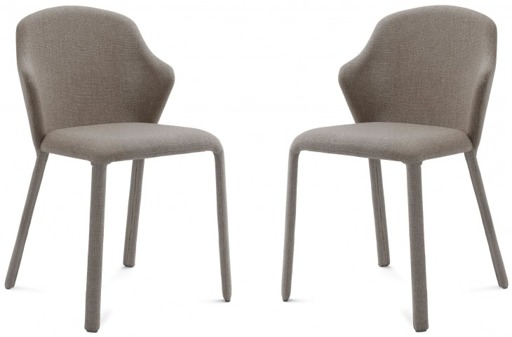 Opera Flirt Sand Steel Chair Set of 2