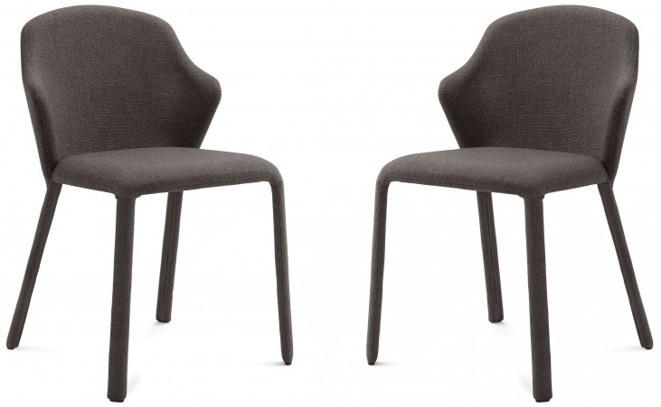 Opera Flirt Brown Steel Chair Set of 2