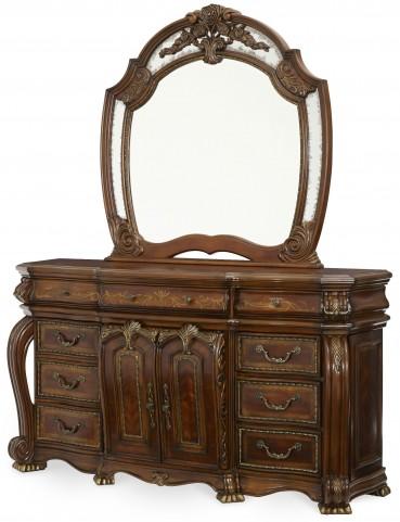 Oppulente Sienna Spice Dresser with Mirror