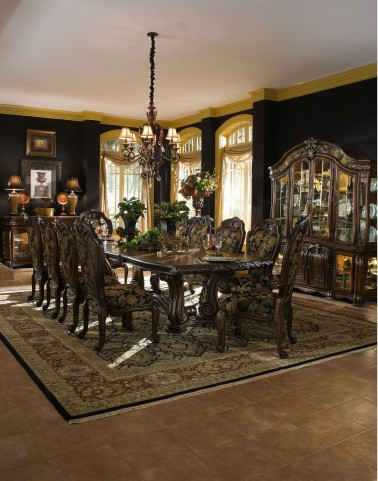 Oppulente Sienna Spice Rectangular Dining Room Set