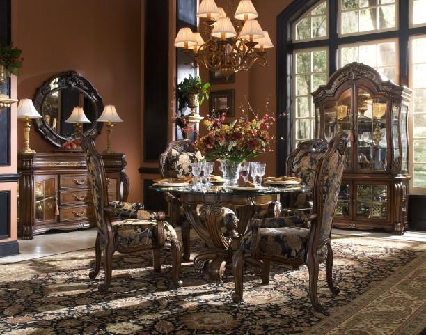 Oppulente Sienna Spice Round Dining Room Set