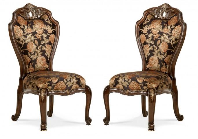 Oppulente Sienna Spice Side Chair Set of 2