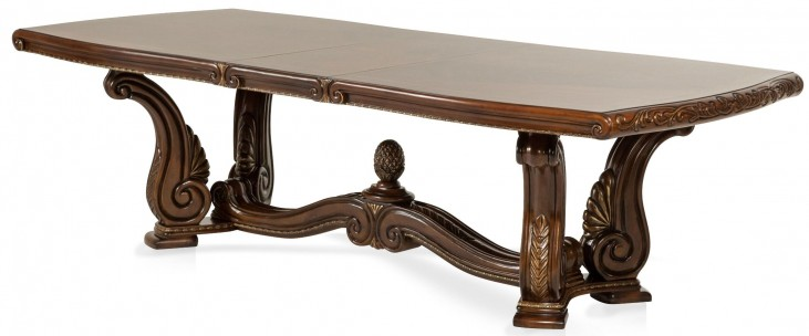 Oppulente Sienna Spice Rectangular Extendable Dining Table