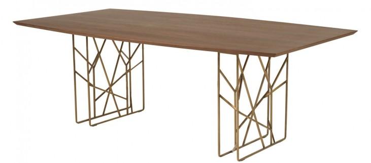 Cleo Dark Walnut Oro Dining Table