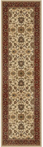 Orian Rugs Detailed Design Traditional Borokan Ivory Runner Rug