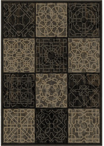 Orian Rugs Detailed Design Geometric Dominion Gray Area Medium Rug