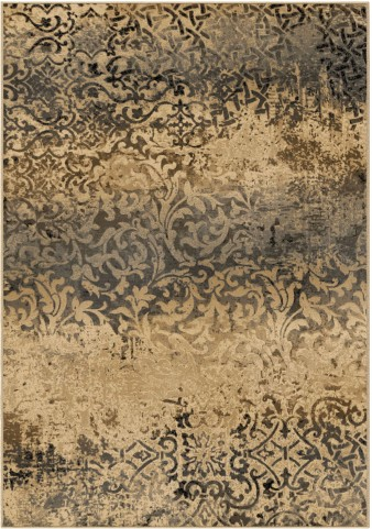 Orian Rugs Modern Design Modern Leaves Valeria Beige Area Small Rug