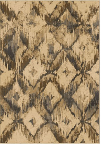 Orian Rugs Modern Design Diamonds Havana Beige Area Small Rug