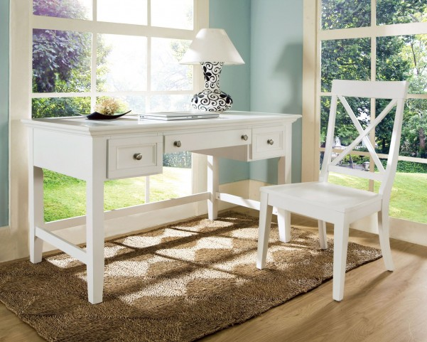Oslo White Home Office Set