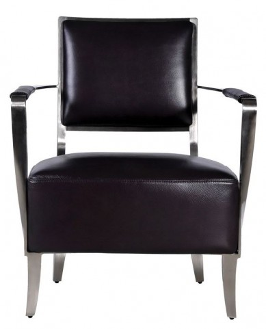 Oscar Black Leather Arm Chair