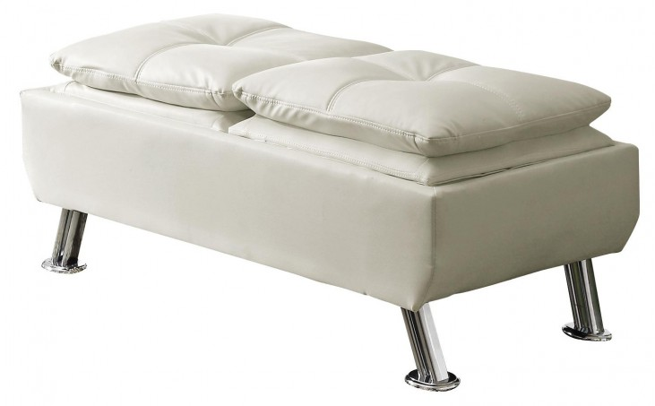 300293 Cocktail Ottoman with Reversible Tray Tops