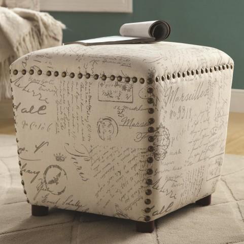501108 Upholstered Ottoman