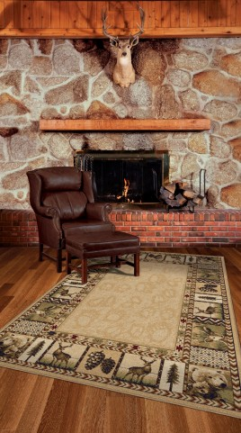 "Oxford High Country Praline Medium 90"" Rug"