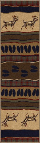 "Oxford Whitetail Parchment Runner 96"" Rug"