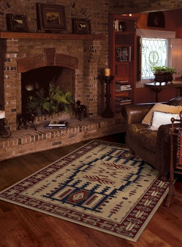 "Oxford Northfork Linen Medium 90"" Rug"