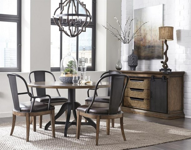 Weston Loft Round Dining Room Set