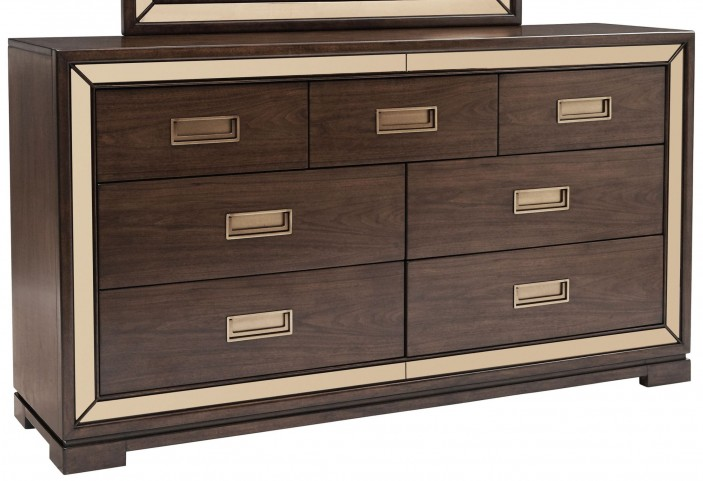 Chrystelle Cognac 7 Drawer Dresser