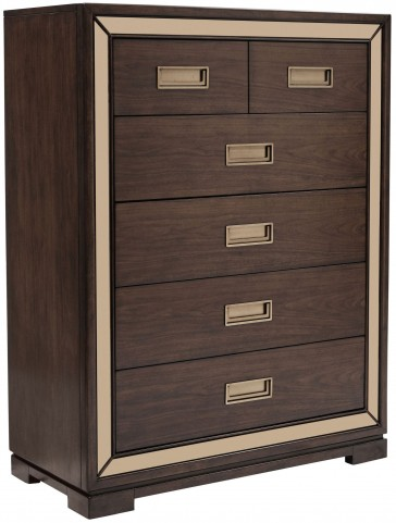 Chrystelle Cognac 5 Drawer Chest