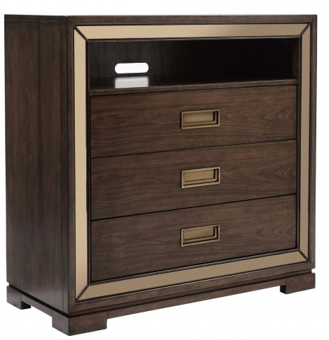 Chrystelle Cognac 3 Drawer Media Chest