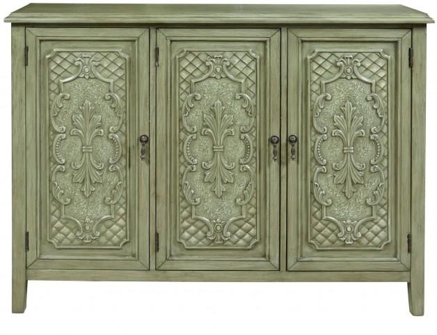 Antique Tin Panel 3 Door Console