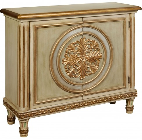 Decorative Gold Trim 2 Door Hall Chest