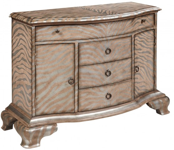 Shaped 4 Drawer Accent Chest