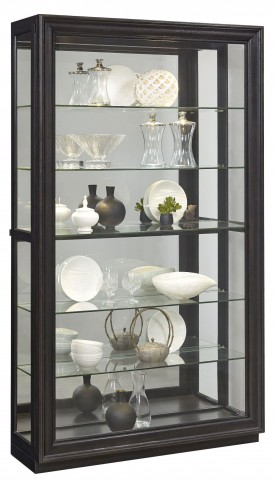 Rockford Brown Sliding Front Curio