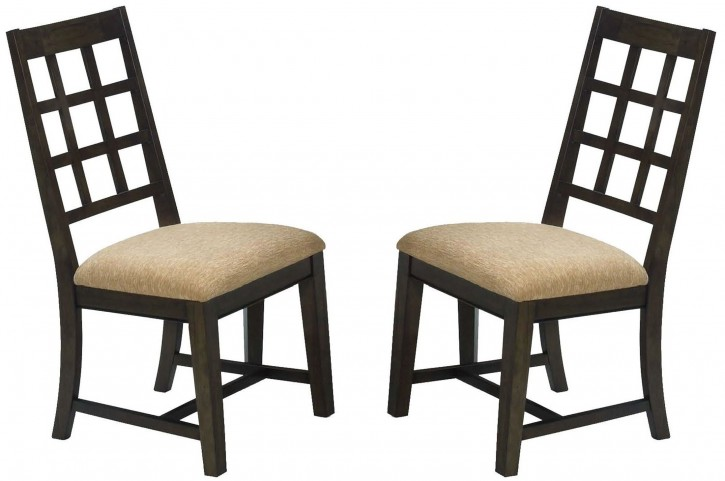 Casual Traditions Walnut Side Chair Set of 2