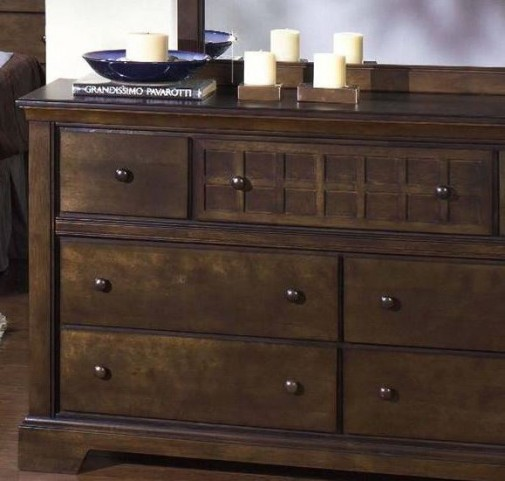 Casual Traditions Walnut Drawer Dresser