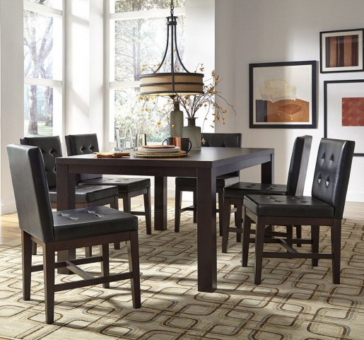 Athena Dark Chocolate Rectangular Dining Room Set