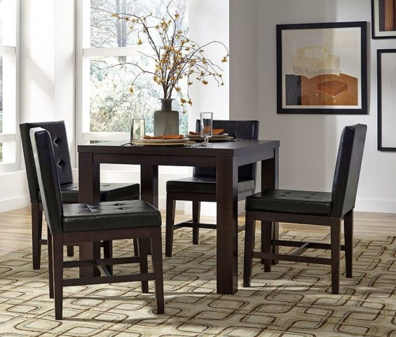 Athena Dark Chocolate Square Dining Room Set