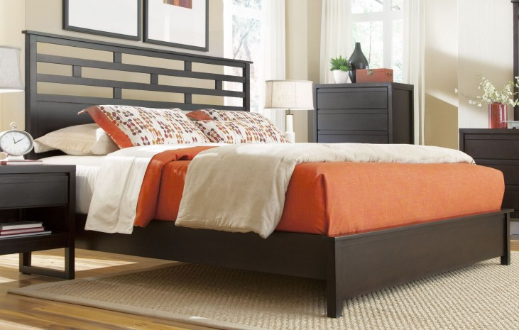 Athena Dark Chocolate Queen Panel Bed