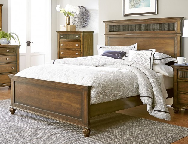 Cotswold Grove Root Beer King Panel Bed