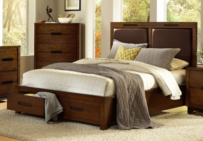 Portland Nutmeg King Upholstered Bed