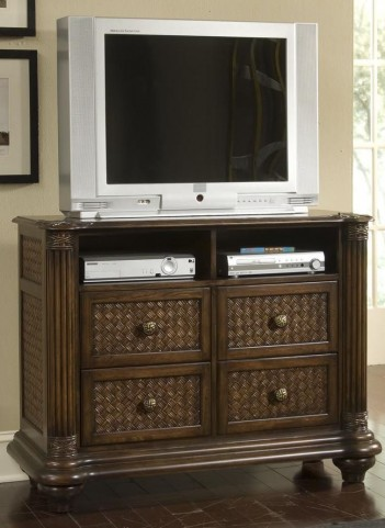 Palm Court Island Pine Media Chest