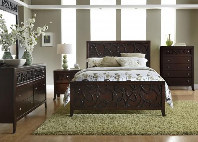 Links Chocolate Panel Bedroom Set