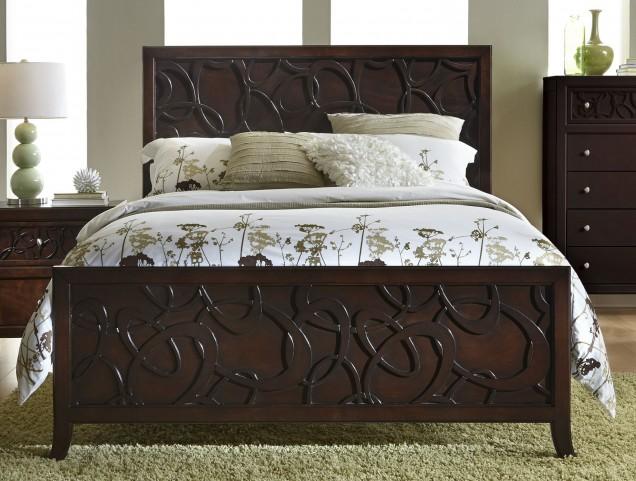 Links Chocolate Queen Panel Bed