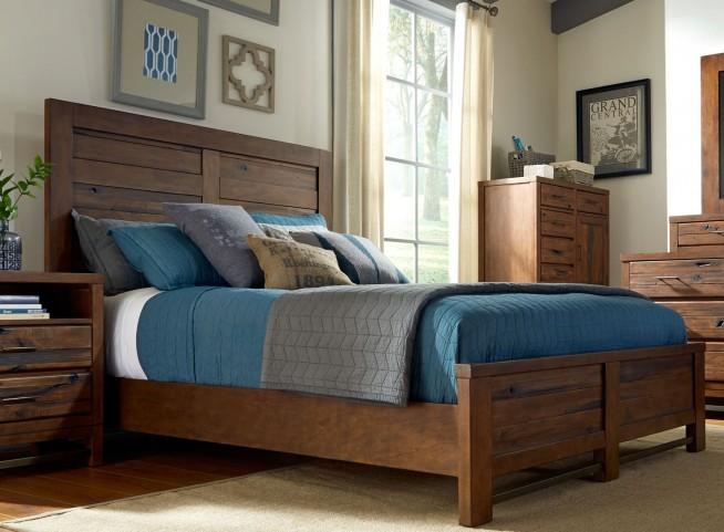Navigator Poplar Panel Bedroom Set