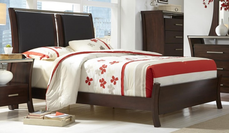 Avalon Sable Queen Upholstered Bed