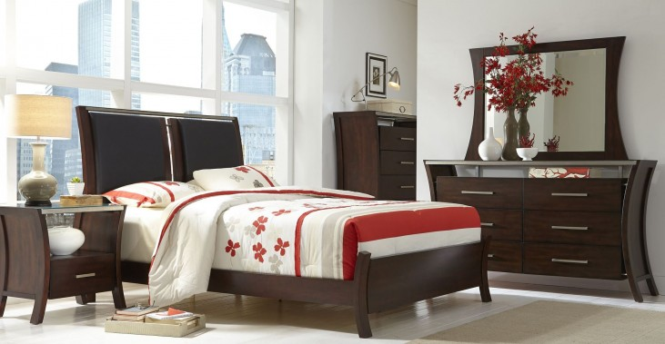 Avalon Sable Upholstered Bedroom Set